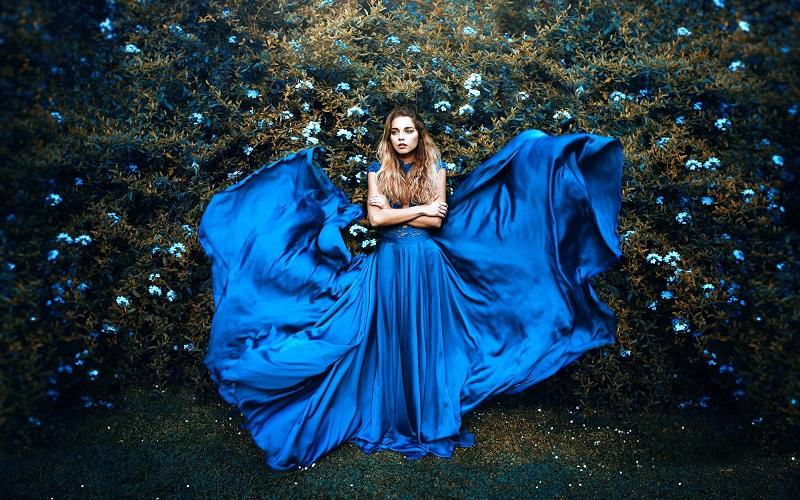 голубой цвет психология